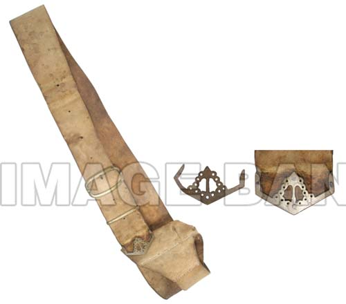 RWq4ds-American Officer's Sword belt with 13 Colonies and arrow motif tip with details.