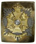 E2ds - Officer's beltplate 34th Regt of Foot c.1835  copy