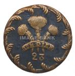 RWb66ds-British 23rd Regiment of Foot (Royal Welsh Fuzileers) officer's button.