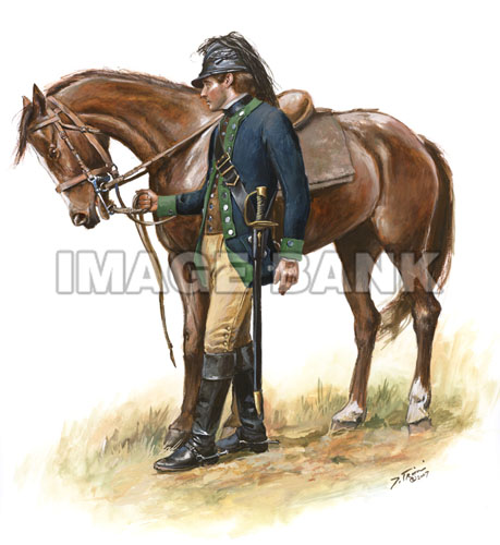 TRW154 - 1st Continental Light Dragoon Pvt. Fall-Winter 1780-1781 watermarked