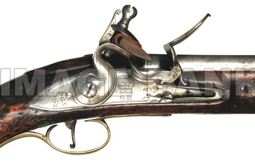 RWg58d British Light Dragoon pistol lock detail psd