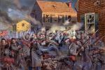 TCW35 - FIRE ON CAROLINE STREET. The 20th Massachusetts Regiment (Harvard Regiment) fights it way through the streets during the